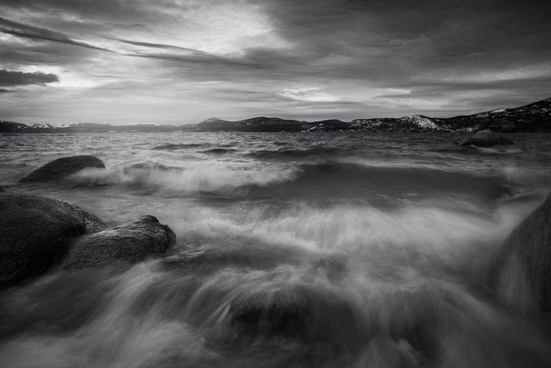 Lake Tahoe Winter Black and White Photos