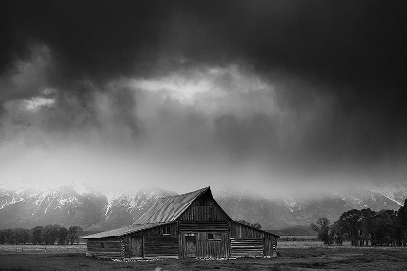 Mormon Row Barn Black and White Photos