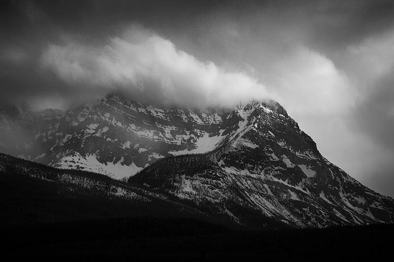 Canadian Rockies Black and White Photos
